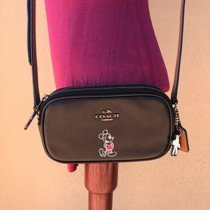 Coach Limited E. Disney Mickey Mouse Crossbody Bag
